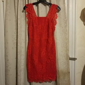 Beautiful For love and Lemons red lace open back